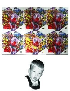Cell Mate, Screen-print on Digital print 2015
