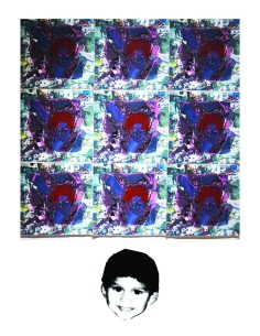 Crawling Through The Night, Screen-print on Digital print 2015