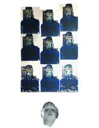 The Blind Leader of Faith, Screen-print on Digital print 2015