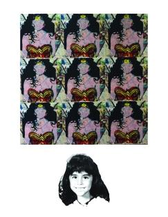A Wonder Of A Woman, Screen-print on Digital print 2015