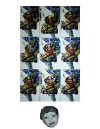 Where Lightning Strikes Hell be Found, Screen-print on Digital print 2015