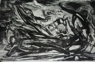 To Wait or To Run and Hide, Lithograph 2009